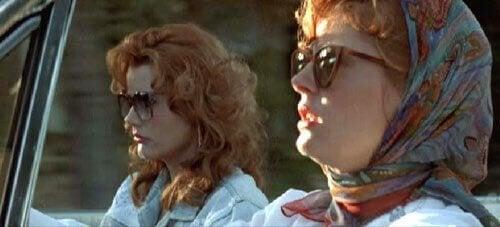 Thelma e Louise in macchina