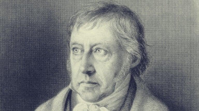 Hegel immagine in bianco e nero