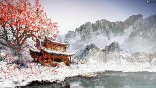 Ritratto di un paesaggio cinese