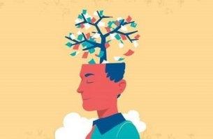 Ritratto di uomo che pensa a un albero persone tossiche