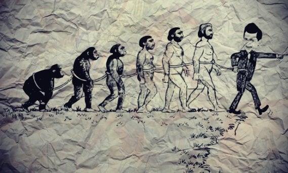 Schiavitù con varie fasi evoluzione umana