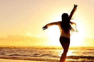 Donna ballare aiuta a gestire l'ansia