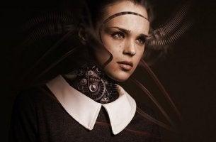 Donna robotica teoria della zona perturbante