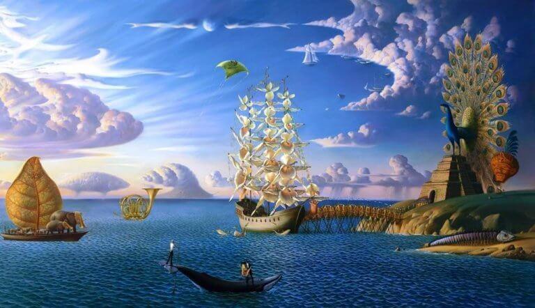 Immagine di barche e mare apparse in sogno