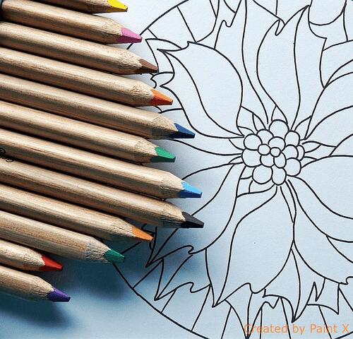 Colori a matita e mandala
