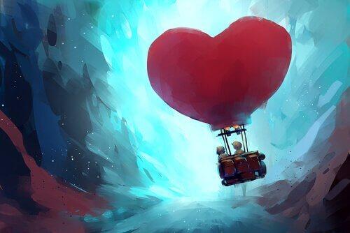 Mongolfiera a forma di cuore