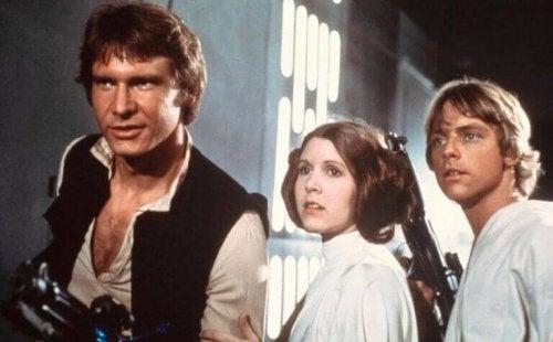 Han Solo con Leila e Luke
