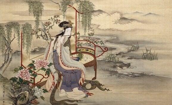 La danza dei geni del bosco, racconto giapponese