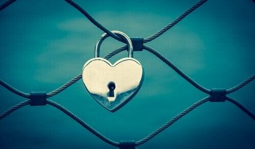 Lucchetto a forma di cuore