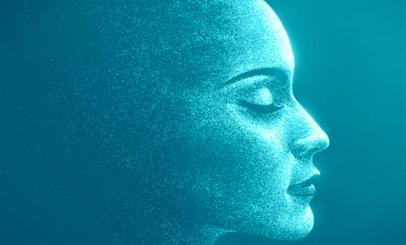 Profilo femminile celeste