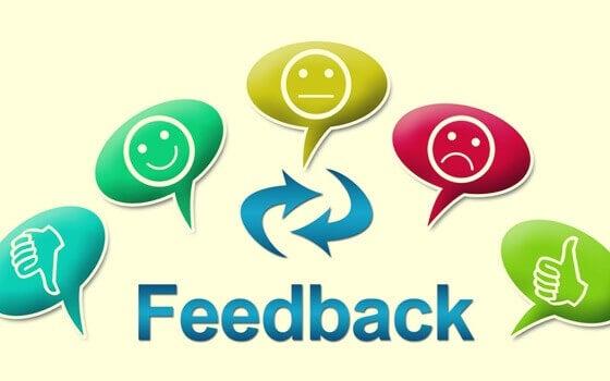 Scritta feedback ed emoticons