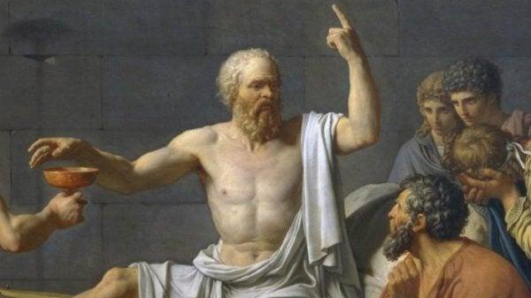 Socrate con i suoi discepoli