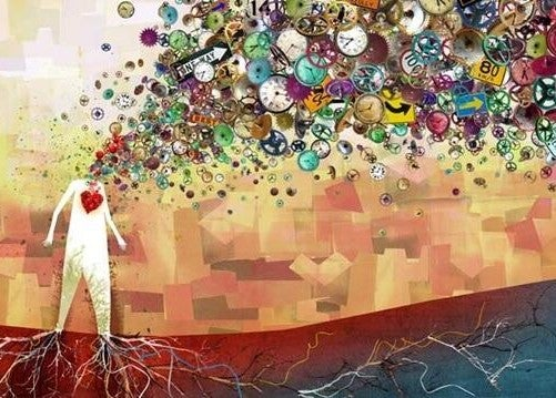 Cervello creativo produce idee