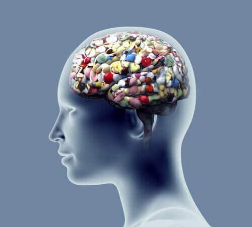 Cervello pieno di farmaci
