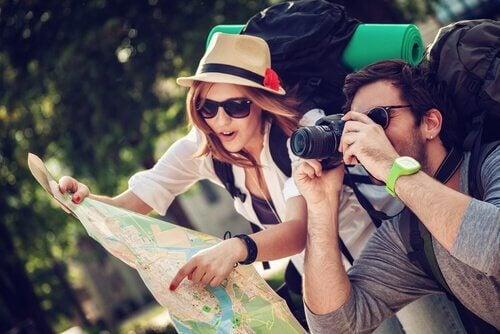 Coppia di turisti