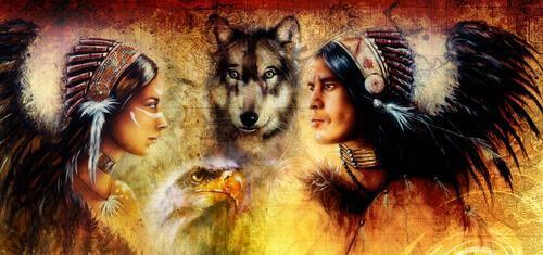 Medicina del lupo indiani d'America