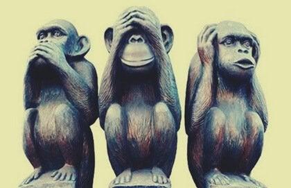 Le tre scimmie sagge e il buon vivere
