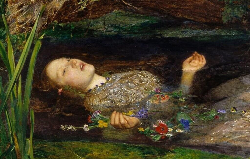Rappresentazione della morte di Ofelia