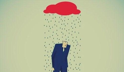 Pioggia su uomo