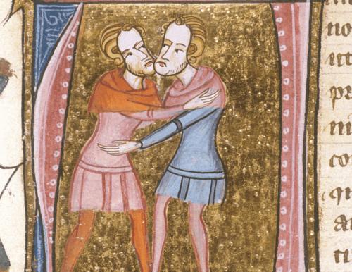 Due uomini che si abbracciano