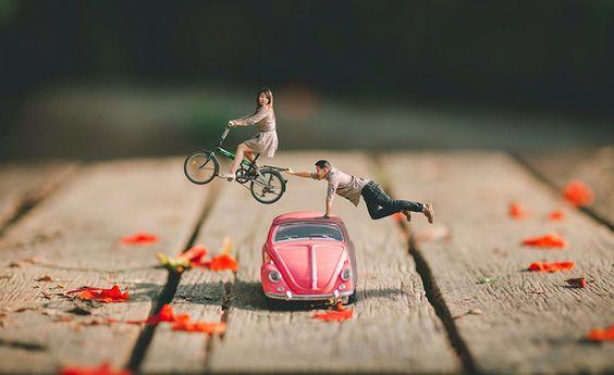 Coppia in miniatura
