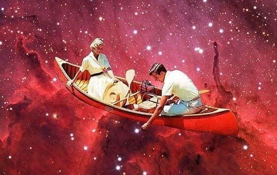 Innamorati a bordo di una barca