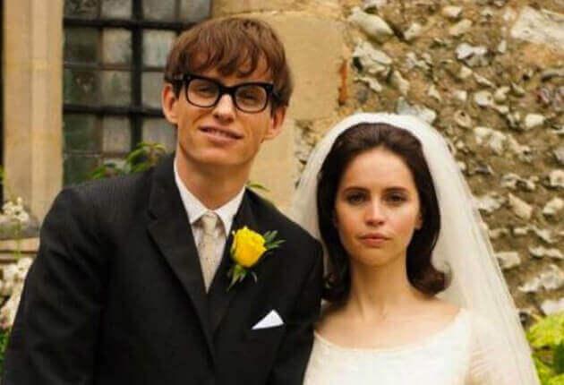 """Stephen Hawking e la moglie Jane nel film """"La teoria del tutto"""""""