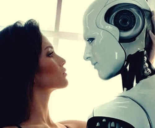 Intelligenza artificiale: una persona e un robot