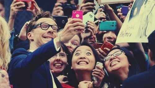 Benedict Cumberbatch con i fan