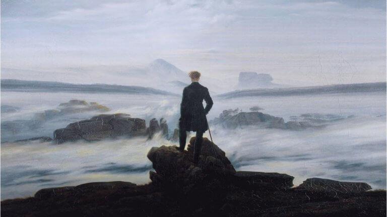 """Quadro di Caspar Friedrich, """"Il viandante sul mare di nebbia"""""""