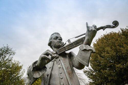 Statua di Wolfang Amadeus Mozart