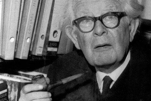 Foto di Jean Piaget tra gli autori della psicologia della educazione.