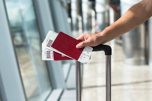 Partenza in aeroporto
