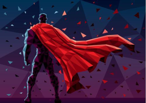 Superman di spalle