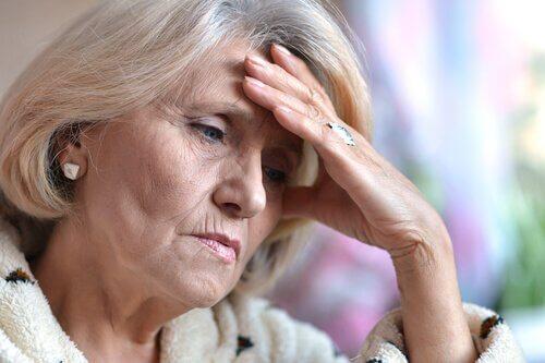 Anziana donna con depressione senile