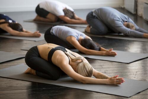 Lezione di hatha yoga