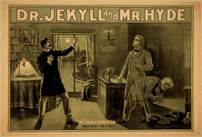 Poster che raffigura il Dottor Jekyll e Mister Hyde