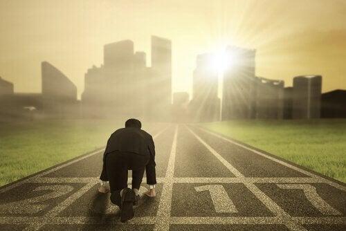 Uomo sviluppa resilienza