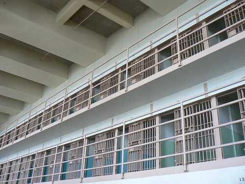 Vista interna di un carcere americano istruzione penitenziaria