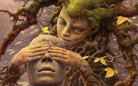Gli archetipi e Jung, donna albero e uomo di legno