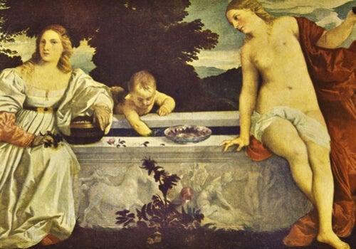 Amore sacro e amore profano di Tiziano