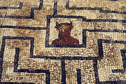 Mosaico del labirinto costruito da Dedalo
