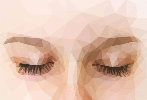 Donna con occhi chiusi isolare i sensi