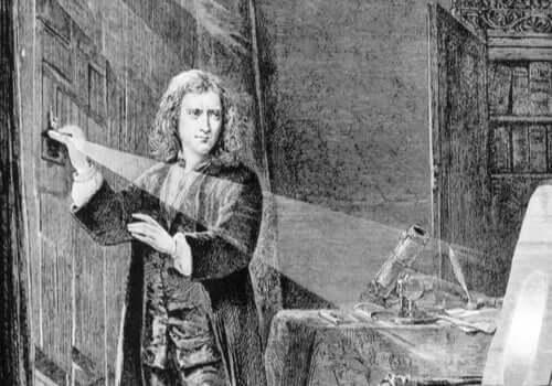Disegno di Newton da giovane