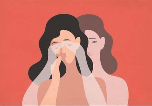 Donna triste con le mani sul viso