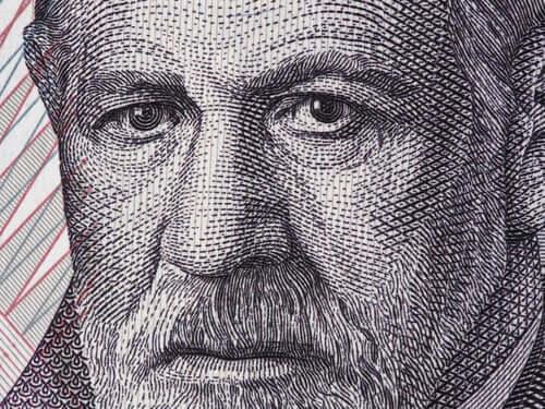 Freud su banconota austriaca e modello economico in psicoanalisi