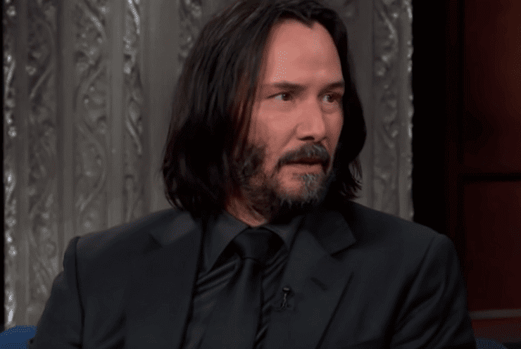 Keanu Reeves in un'intervista