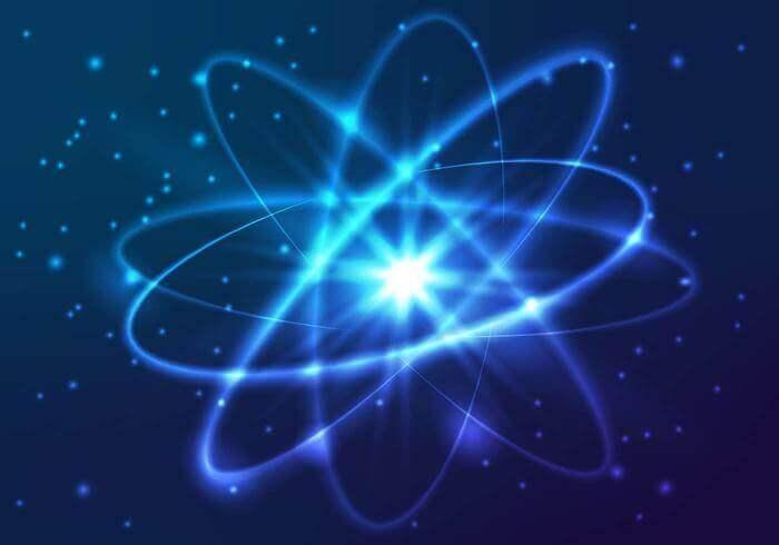 Atomo che rappresenta l'unione tra fisica quantistica e spiritualità
