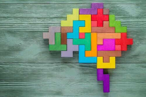 Cervello formato da mattoncini di Tetris