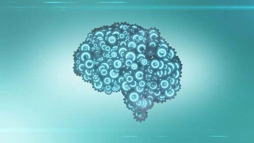 Perdita di memoria e cervello con ingranaggi